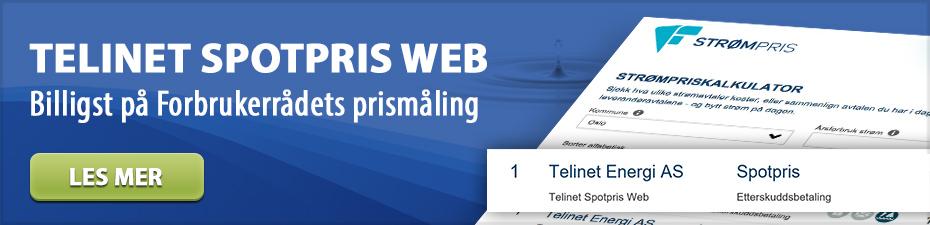 Telinet Spotpris Web - Billingst på Forbrukerrådets prismåling
