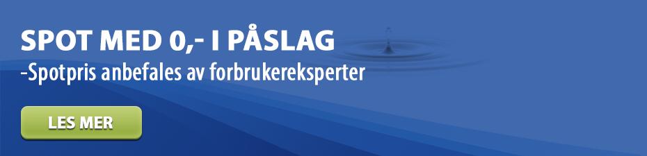 Vintertilbud på spotpris - Spotpris anbefales av forbrukereksperter.